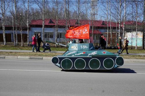Праздничное шествие, посвященное Дню Победы!